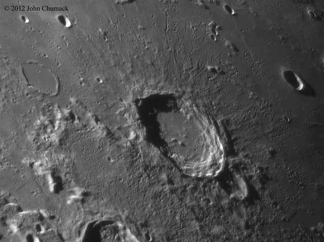 Lunar Crater Aristoteles Close-up on 08-07-12