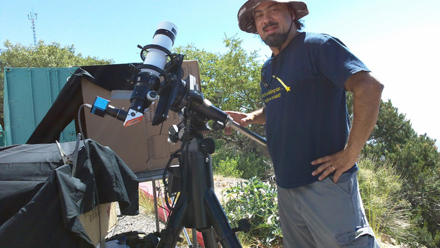 John at Kitt Peak for Venus Transit 2012