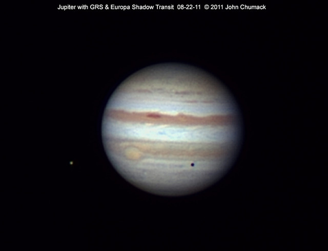 Jupiter with GRS & Europa Shadow Transit 08-22-11