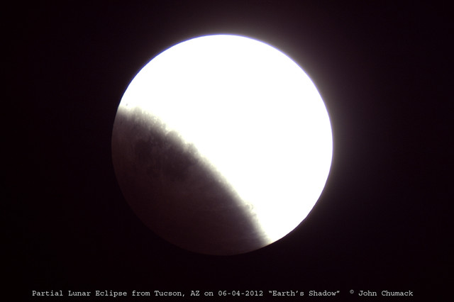 partial lunar eclipse from tucson az the universe yours to discover http mvas org node 3450