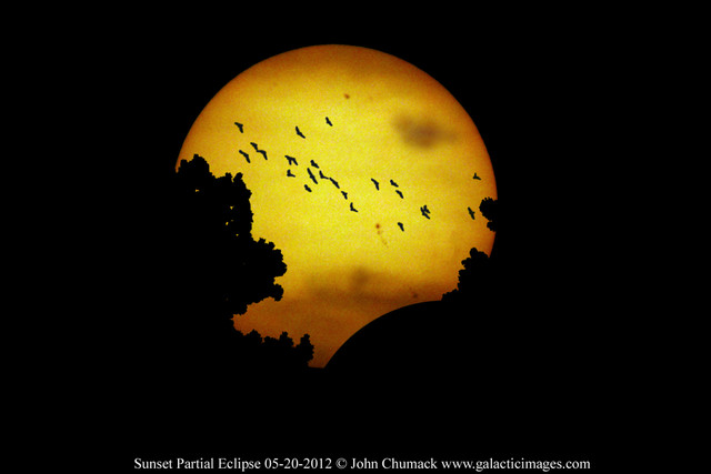 Sunset Eclipse & birds 05-20-2012