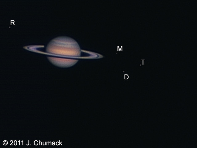 Saturn with dione shadow transit