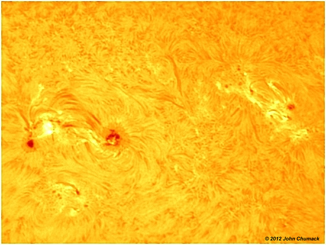 Sunspot group1504 & 1505 in H-Alpha