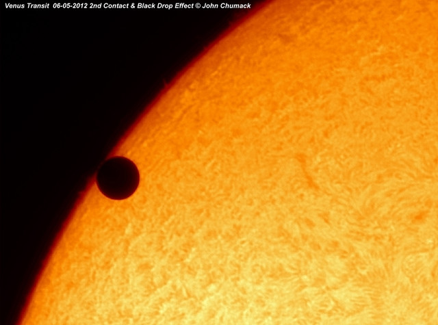 Venus Transit 2012 Closeup 2nd Contact & Black Drop Effect