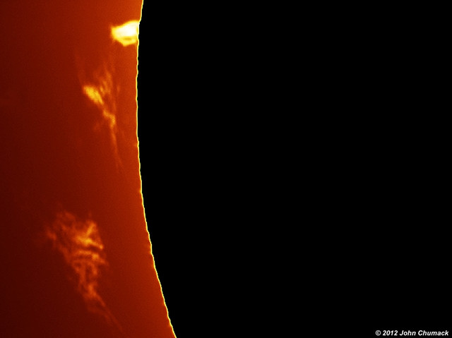 Solar Prominences Black disk 02-22-2012